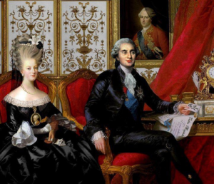 King Louis XVI and his wife Marie Antoinette